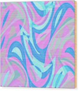 Abstract Waves Painting 007197 Wood Print