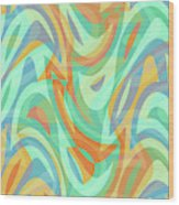 Abstract Waves Painting 007202 Wood Print