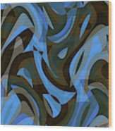 Abstract Waves Painting 007203 Wood Print