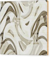 Abstract Waves Painting 007212 Wood Print