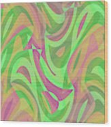 Abstract Waves Painting 007214 Wood Print