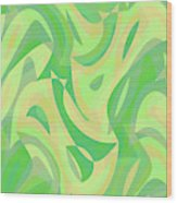 Abstract Waves Painting 007216 Wood Print