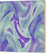 Abstract Waves Painting 007217 Wood Print