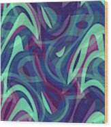 Abstract Waves Painting 007219 Wood Print
