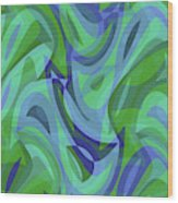 Abstract Waves Painting 007221 Wood Print