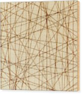 Abstract Web Background Wood Print