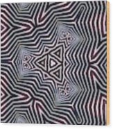 Abstract Zebra Design Wood Print