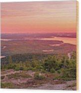 Acadia National Park Sunrise  Wood Print