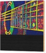Acoustic Guitar Musician Player Metal Rock Music Color Wood Print