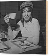 Actress And Singer Barbra Streisand Wood Print