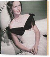 Actress Debbie Reynolds Wood Print