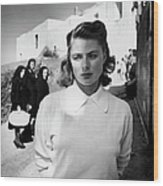 Actress Ingrid Bergman Attracting Wood Print