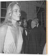 Actress Margaux Hemingway At Newport Wood Print