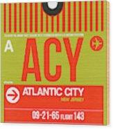 Acy Atlantic City Luggage Tag I Wood Print