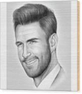 Adam Levine Wood Print