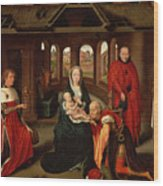 Adoration Of The Kings Wood Print