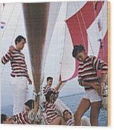Adriatic Sailors Wood Print