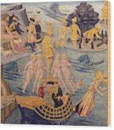 Adventures Of Ulysses, Detail Wood Print