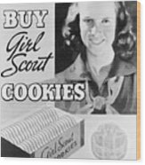 Advertisement Poster For Girl Scout Wood Print