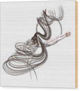 Aerial Hoop Dancing Happiness Wood Print