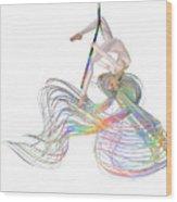 Aerial Hoop Dancing Ribbons For Her Hair Png Wood Print
