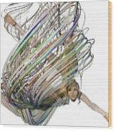 Aerial Hoop Dancing Whirlwind Of Hair Png Wood Print
