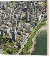 Aerial Of West End, Vancouver Wood Print