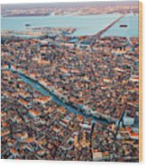 Aerial View Of Grand Canal, Venice, Italy Wood Print