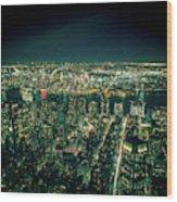 Aerial View Of Manhattan Skyline  Wood Print
