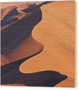 Aerial View Of The Namib Desert Wood Print