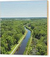 Aerial View Of Vegetation On Landscape Wood Print