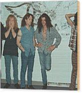 Aerosmith Backstage Portrait Wood Print
