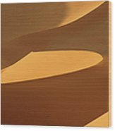 Africa, Namibia, Sand Dunes, Full Frame Wood Print