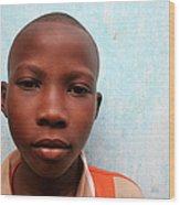 African Boy Wood Print