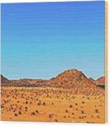 African Desert Panorama Wood Print