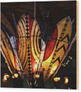 African Shields At Ak Lodge Wood Print