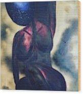 Afrocelestial Wood Print