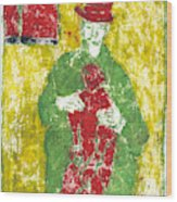 After Billy Childish Painting Otd 23 Wood Print
