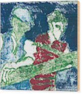 After Billy Childish Painting Otd 33 Wood Print