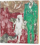 After Billy Childish Painting Otd 43 Wood Print