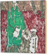 After Billy Childish Painting Otd 45 Wood Print