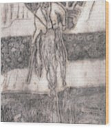 After Billy Childish Pencil Drawing 24 Wood Print