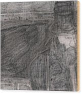 After Billy Childish Pencil Drawing 32 Wood Print