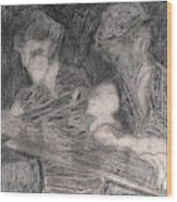 After Billy Childish Pencil Drawing 33 Wood Print