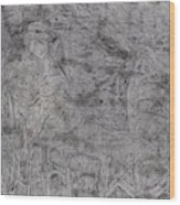 After Billy Childish Pencil Drawing 5 Wood Print
