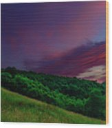 After The Storm Afterglow Wood Print