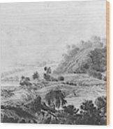 After The Tornado  Pavel Petrovich Svinin 1787 88-1839 Wood Print