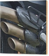 Agusta Racer Pipes Wood Print