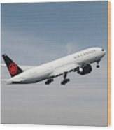 Air Canada Boeing 777 233 Lr Wood Print