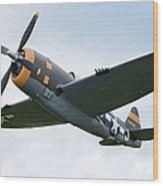 Airplane P-47 Thunderbolt From World Wood Print